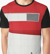 Funky Little Red Building Graphic T-Shirt