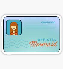 Mermaid License Sticker