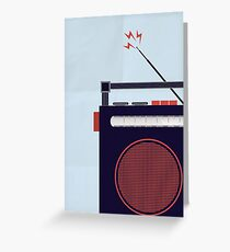 Funky Little Radio Greeting Card