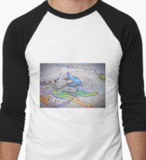 Phsycedelic Bluebottle Men's Baseball ¾ T-Shirt