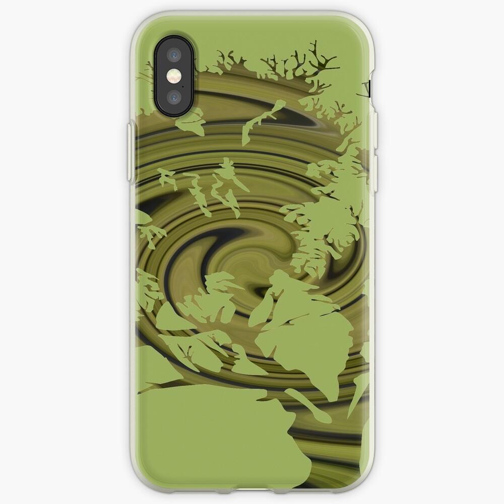 Árbol de la vida- Remolinos esmeralda Funda y vinilo para iPhone