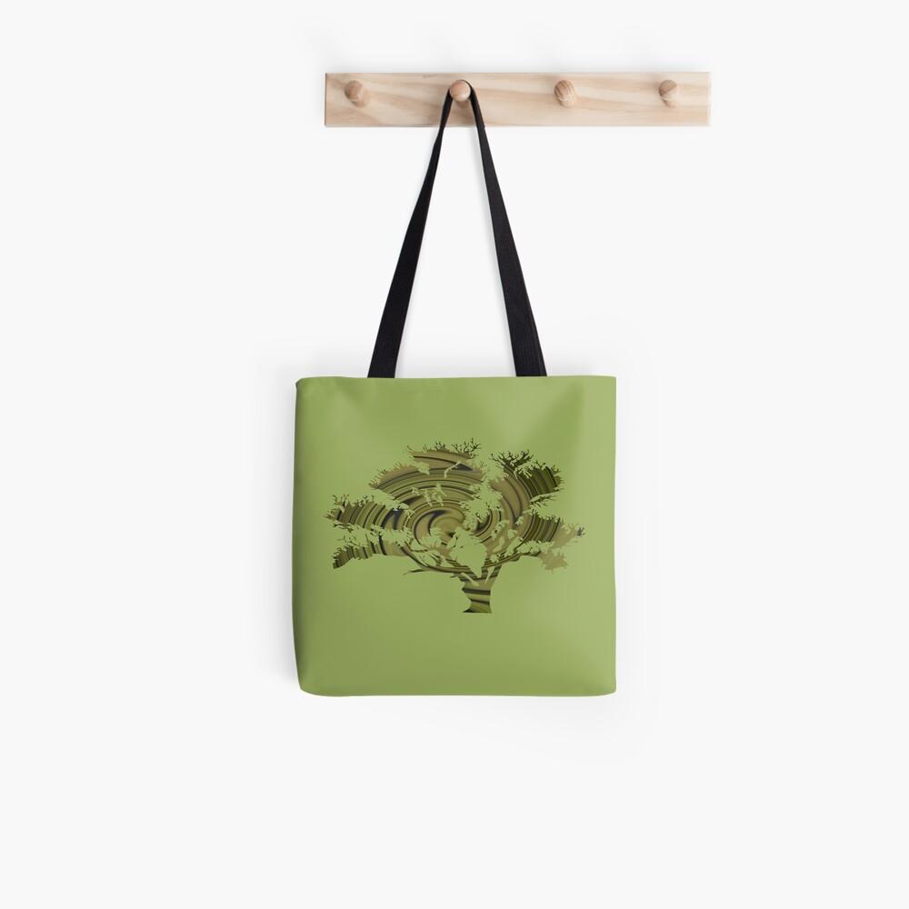 Árbol de la vida- Remolinos esmeralda Bolsa de tela