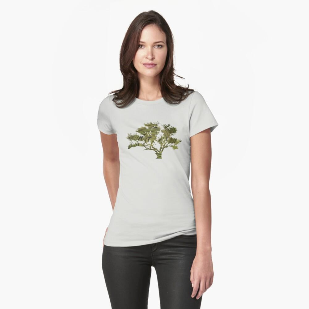 Árbol de la vida- Remolinos esmeralda Camiseta entallada