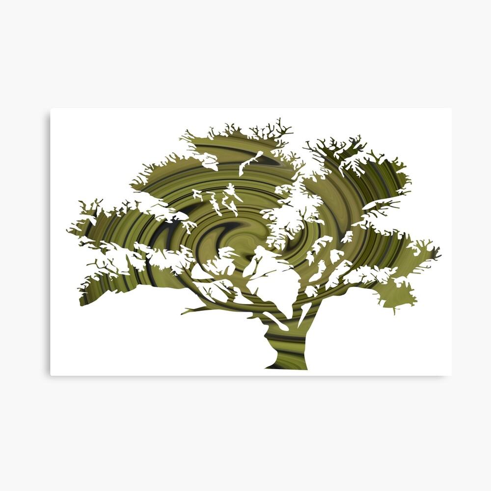 Árbol de la vida- Remolinos esmeralda Lienzo