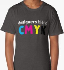 Designers Bleed CMYK for Graphic Designers Long T-Shirt