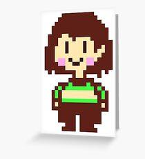 Chara Dreemurr Undertale HQ Greeting Card