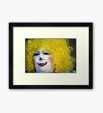 Painted Clown Framed Print