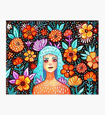 Garden Girl Photographic Print