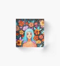 Garden Girl Acrylic Block