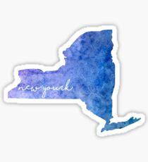 New York Watercolor Sticker
