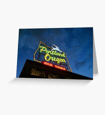Portland White Stag Greeting Card