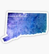 Connecticut Watercolor Sticker