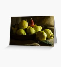Quinces and the Pear Greeting Card