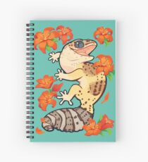 Fire lily gecko Spiral Notebook