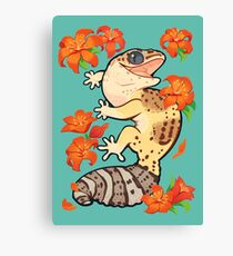 Fire lily gecko Canvas Print