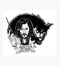 Sirius Black: Padfoot Photographic Print