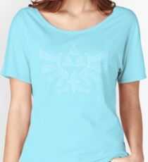 Celtic knot Triforce White Women's Relaxed Fit T-Shirt