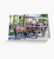 Charleston City Tours Greeting Card