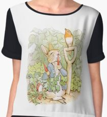 Peter Rabbit Steals Carrots Chiffon Top