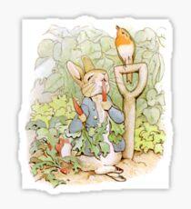 Peter Rabbit Steals Carrots Sticker