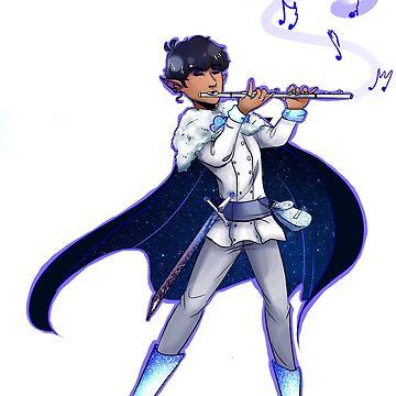 Elf Karamatsu W/ A Flute by double0doodles
