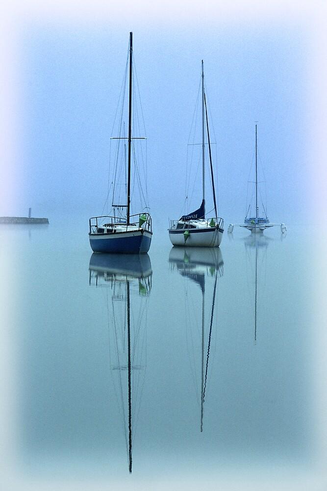 Yachts in blue. by DaveBassett