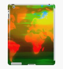 Green water world map iPad Case/Skin