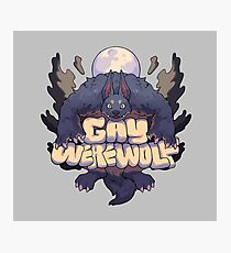 gay werewolf Photographic Print