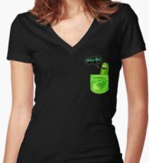 picke ricky pocket Women's Fitted V-Neck T-Shirt