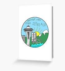 Seattle Pun Greeting Card