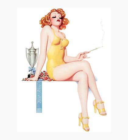 Tasty Pinups™ Vintage Red Head Smoking Hot Photographic Print