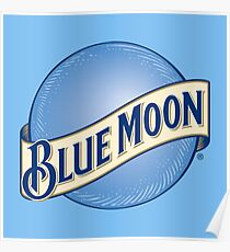 Blue Moon Beer Poster