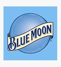Blue Moon Beer Photographic Print