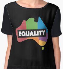 LGBT equality australia Women's Chiffon Top