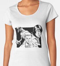 Eleven, Mike, and the Demogorgon Women's Premium T-Shirt