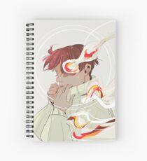 A Calm Flame Spiral Notebook