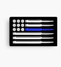 Thin Blue Line - Bullet Canvas Print