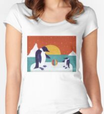 Happy Penguins Women's Fitted Scoop T-Shirt