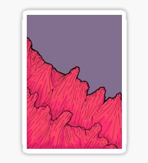 The mauve sky mountains Sticker