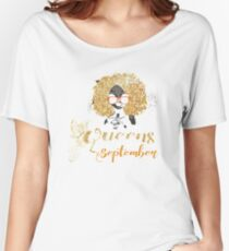 Women's Black Queens Are Born In September Women's Relaxed Fit T-Shirt