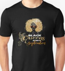 Women's Black Queens Are Born In September T-Shirt