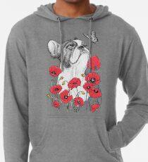 Pug in flowers Leichter Hoodie