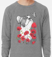 Pug in flowers Lightweight Sweatshirt