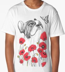 Pug in flowers Long T-Shirt