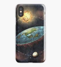 Flat Earth In Space iPhone Case/Skin