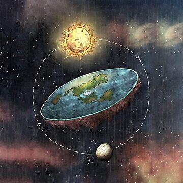 Flache Erde im Weltraum von ccb9951