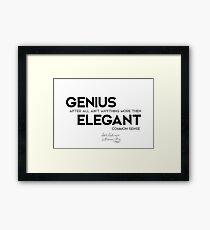 genius elegant - josh billings Framed Print
