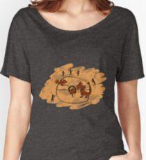 Rupestrian Pokemon Battle V.1 Women's Relaxed Fit T-Shirt