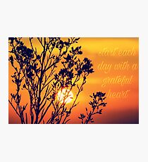 Grateful Heart Photographic Print