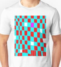 Funky Checks blue n red T-Shirt